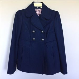 Juicy couture wool double breasted pea coat
